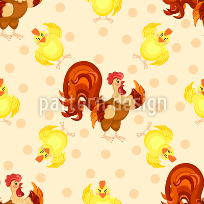 Funny Rooster Repeating Pattern