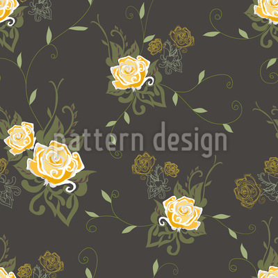 Cream Roses Vector Ornament