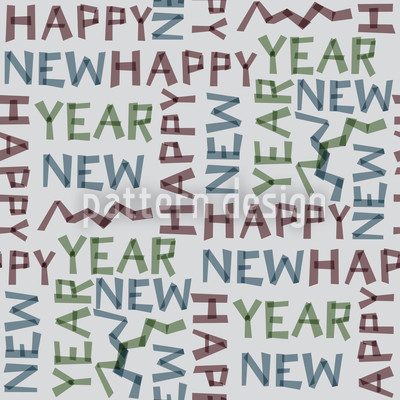 New Years Eve Grey Design Pattern