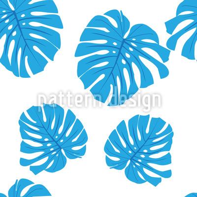 Blaue Blätter Muster Design