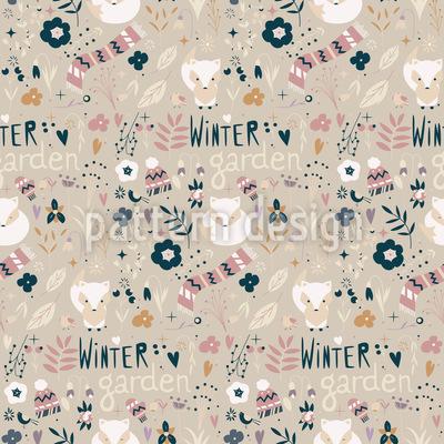 Winter Fuchs Nahtloses Muster