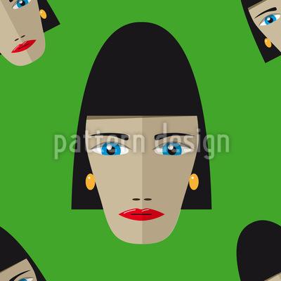 Egyptian Woman Vector Ornament