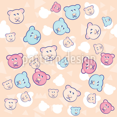 Funny Bears Repeat Pattern