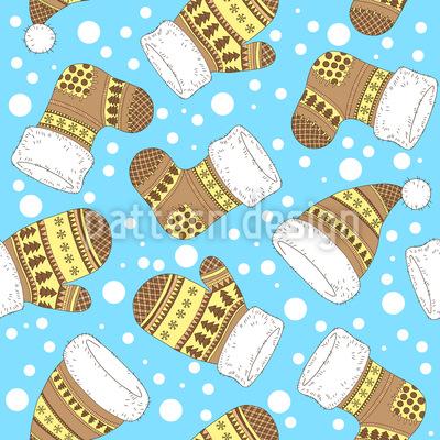 Winterkleidung Musterdesign