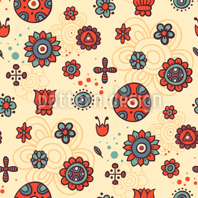 Flower Come Back Seamless Pattern