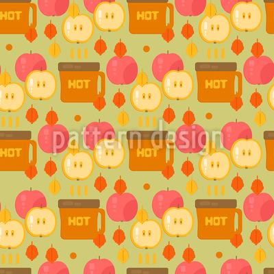 Kaffee und Äpfel Rapportiertes Design