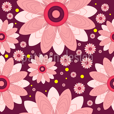 Floral Center Vector Ornament