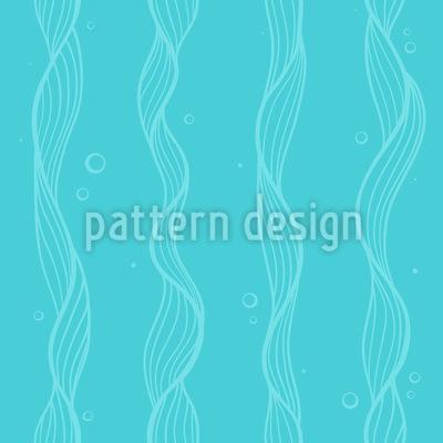 Sea Weed Seamless Vector Pattern