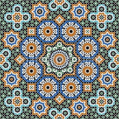 Marokkanische Pracht Nahtloses Vektor Muster
