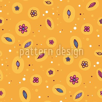Sunshine And Flowers Pattern Design