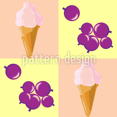 Berry Ice Cream Vector Design
