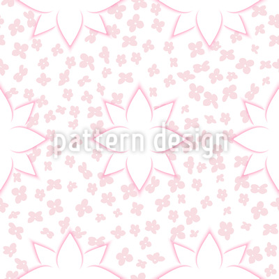 Modern Flowers with Effect Pattern Design