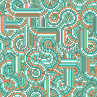Endlose Retro Linien Designmuster