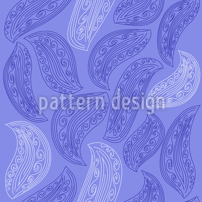 Ornate Leaves Vector Ornament