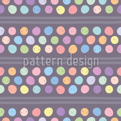 Hand-drawn Dots And Stripes Seamless Vector Pattern