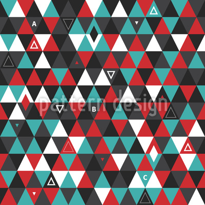 Modern Patchwork Triangles Repeat Pattern
