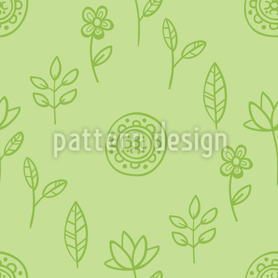 Bloomy Spring Feelings Seamless Vector Pattern