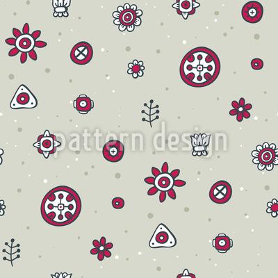Geometrische Blumen Rapportiertes Design