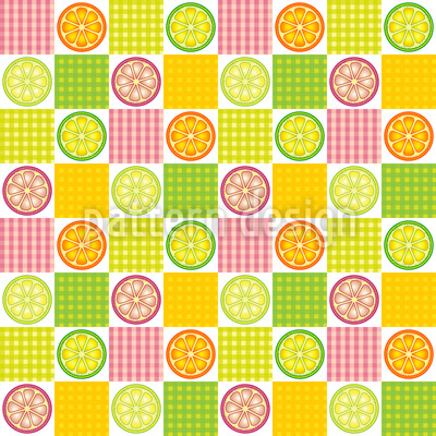 Leckere Zitronen Muster Design