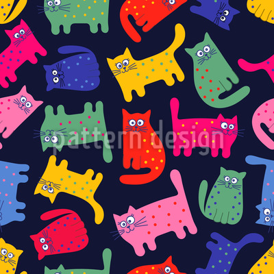 Rainbow Cats Repeating Pattern