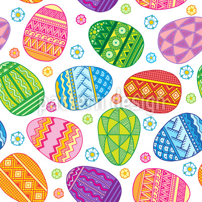 Colorful Easter Repeat Pattern