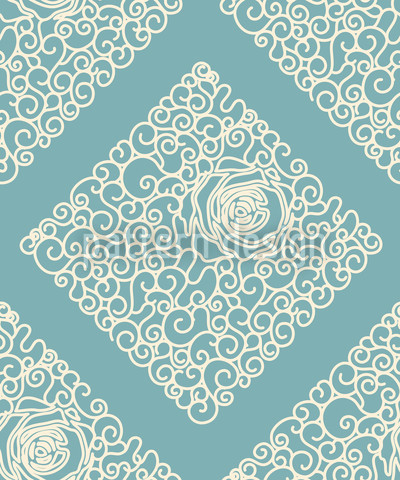 Sleeping Beauties Mint Repeating Pattern