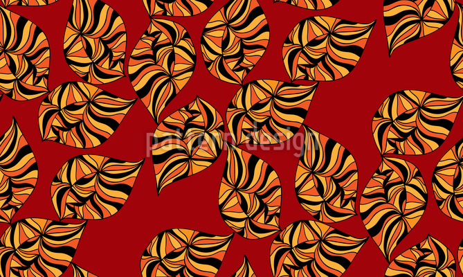Ethno Blätter Musterdesign