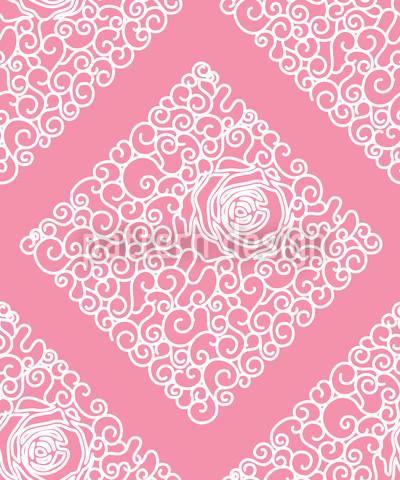 Sleeping Beauties Rose Repeat Pattern