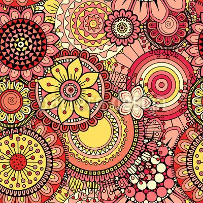 Helle abstrakte Blumen Nahtloses Muster