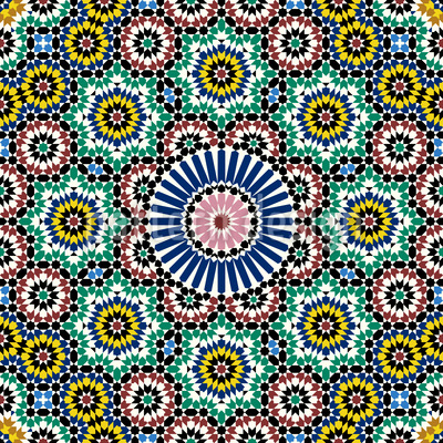 Marokkanische Fliese Rapportmuster