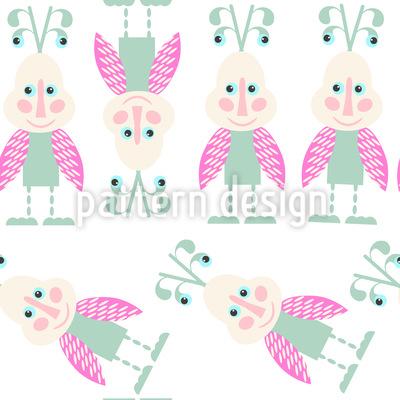 Süße Käfer Nahtloses Vektor Muster