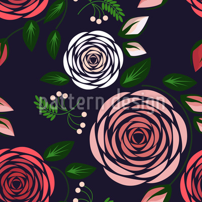 Dark Roses Repeating Pattern