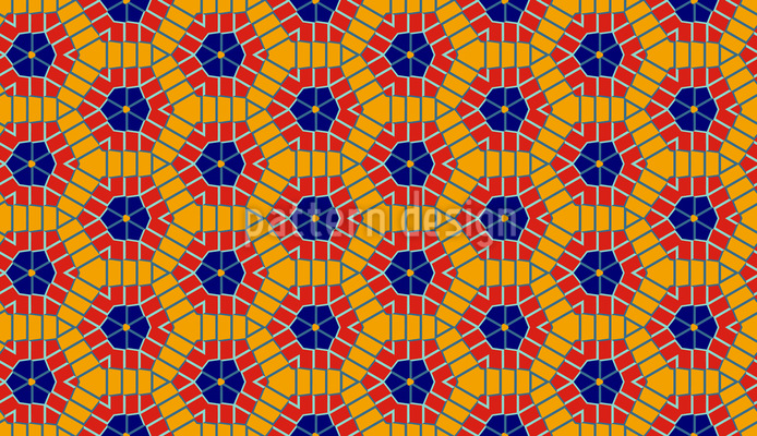 Hexagon Kaleidoscope Seamless Vector Pattern