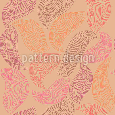 Paisley Leaves Vector Design