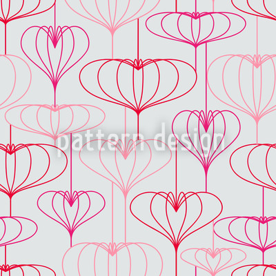 Heart Lantern Grey Vector Design