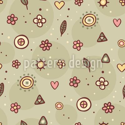 Nette Blumen und Blätter Designmuster