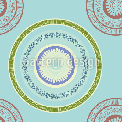 Ornamentale Kreise Rapportiertes Design