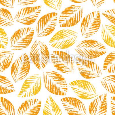 Gestempelter Herbst Muster Design