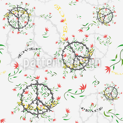 Peace For The World Pattern Design