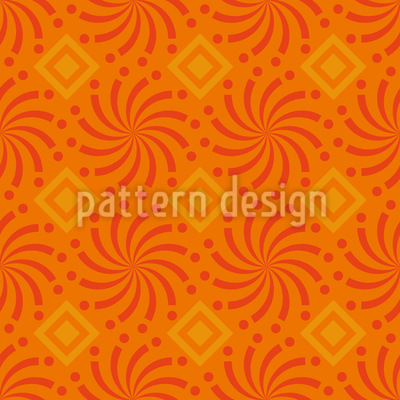 Dance of Spirals Seamless Vector Pattern