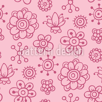Girls Garden Dreams Vector Pattern