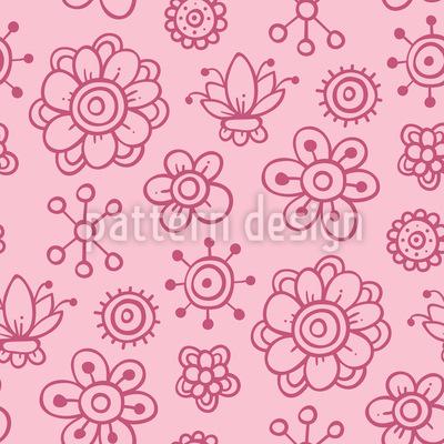 Mädchen Garten Träume Vektor Muster