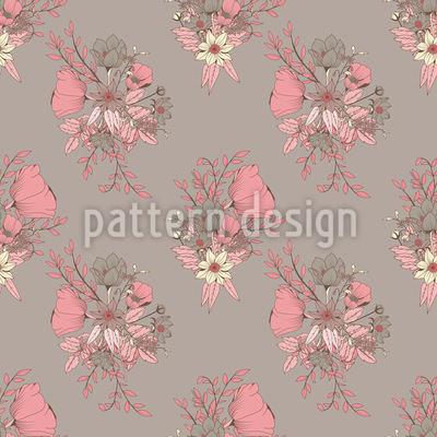 Gorgeous Flower Bouquet Design Pattern