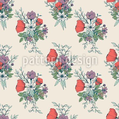 Wild Bouquet Vector Ornament