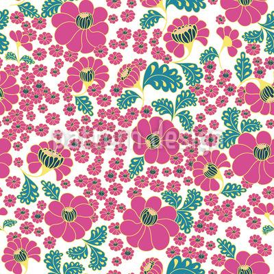 Wilde Blumenexplosion Vektor Muster