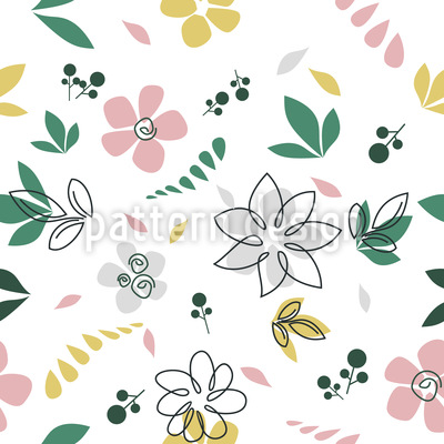 Botanische Skizzen Vektor Design