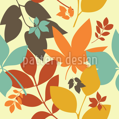 Goldener Herbst Muster Design