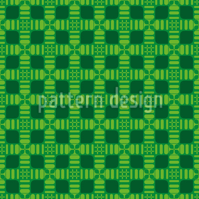 Checkered Springtime Dream Vector Ornament