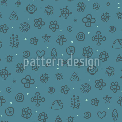 Arctic Flower Meadow Seamless Pattern