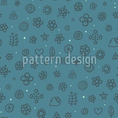 Arktische Blumenwiese Nahtloses Muster